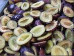 frozen plum halves
