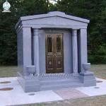 New Design Natural Granite Cemetery Mausoleum