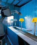 Water-sprinkled spray booth type RWS