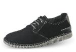 Black men's shoes with shoelaces