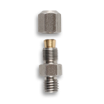 Brass compression-type fitting
