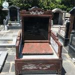 Chineses Style Monument Red Granite Tombstone