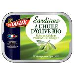 Sardines huile d'olive bio 115g - LES DIEUX