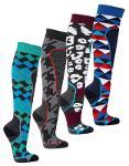 "6676 - Anti-Blister Ski-Socks ""SNOW FUN"""