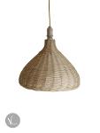Garlic Shaped Rattan Pendant Light