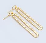 Long Oval Hoop Earrings Posts