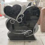 Granite Tombstone Heart Engraved Monument