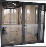 Portes métalliques spéciales double vitrée va & vient