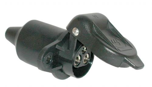 Socket 3-pol.12V/2-hole-flat pin