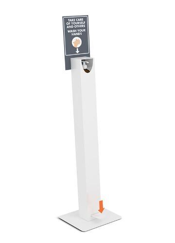 Free touch floor standing hand sanitiser dispenser