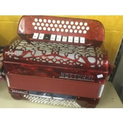 Notturini 3 Row B/C/C# accordion 37 buttons 80 bass Used