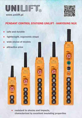 Pendant control stations UNILIFT-HY-NUX