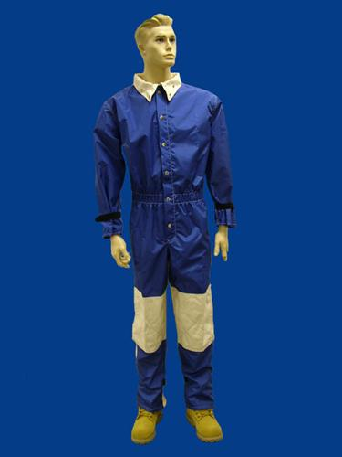 Blue Nylon blast Suit