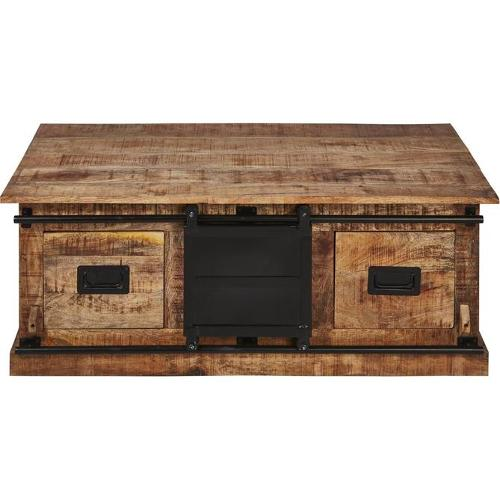 Table Basse 59634bs - Flamingo Noir & Marron - Lot De 1