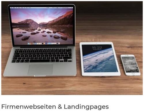 Erstellung von Firmenwebseiten