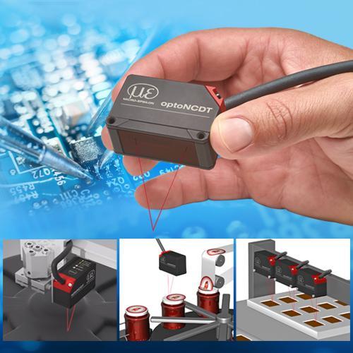 Compact laser triangulation displacement sensor