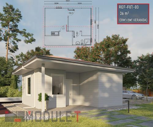One Bedroom Prefabricated House