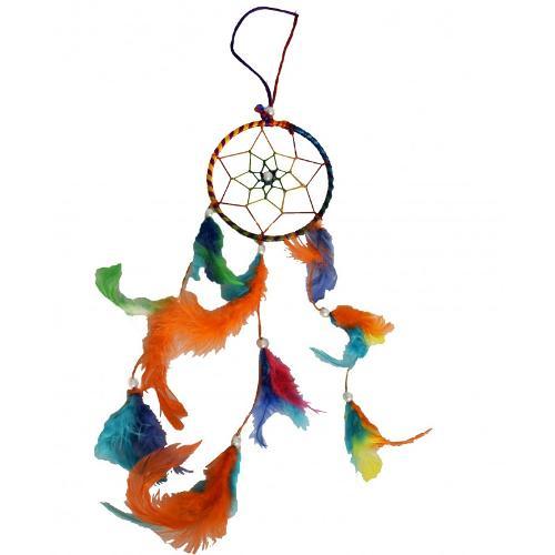 """Atrapasueños Multicolor Con Perlas 10cmø 4"""""""