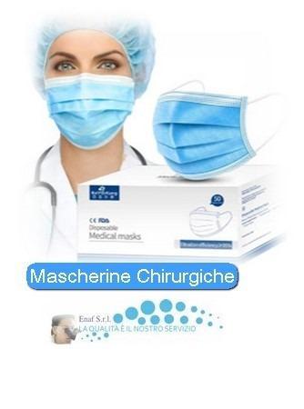 Mascherina Chirurgica: €0.09/pz.