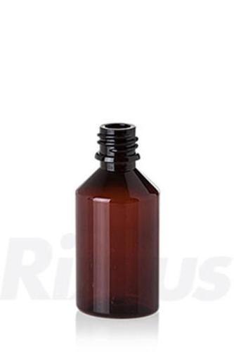 PET-Flasche Pharma Round braun Gewinde GL18