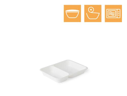 PP tray, 2-comp
