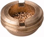 Sintered bronze silencer, flat, G 1 o.