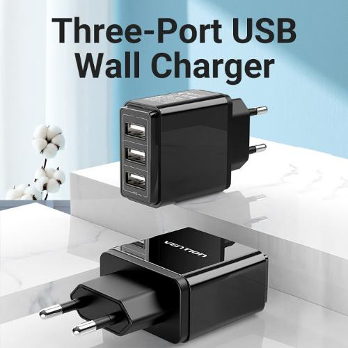 Vention DC5307 Adapter Wall Charger 3 Usb Port