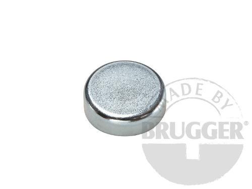 Flat pot magnets hard ferrite, galvanized