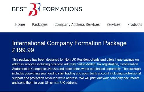 International Company Formation Package