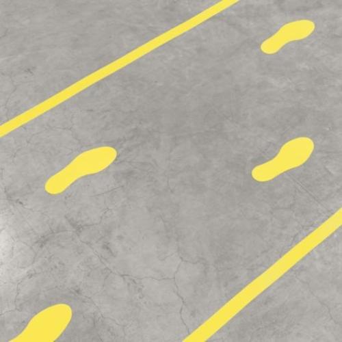 Floor marking symbol - foot print