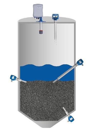 Medição Interface de sólidos em líquidos NivoBob®/Vibranivo®
