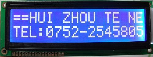 16x2 LCD Character Display, SBF01602A0BEW10
