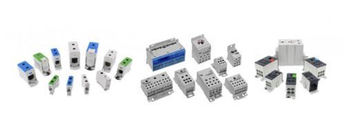 Bloques distribuidores de conexión por tornillo