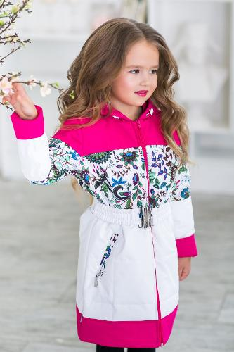 Coat with floral print Sandra
