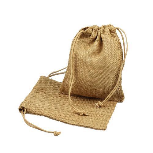 Bolsa con cordón de yute