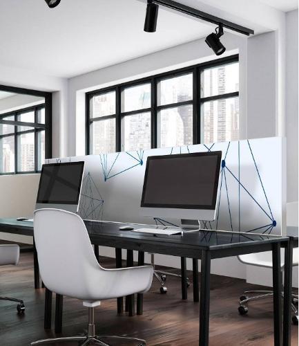 Acoustic partition with your motiv, 60 cm