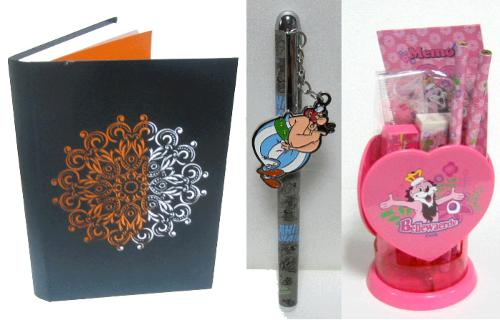 Papeterie : carnets, stylos, joural intime, sets écoliers