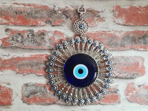 nazarlıklar,evil eye wall decor,metal wall ornaments,bead