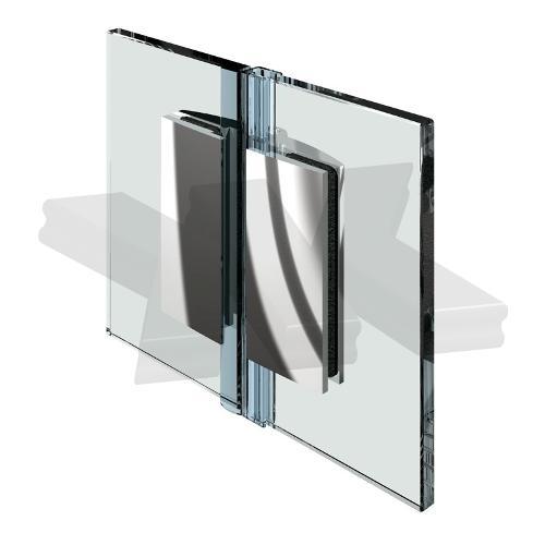 Shower door hinge Farfalla, glass-glass 180°, opening inward