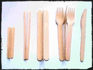 Вилки деревянные одноразовые