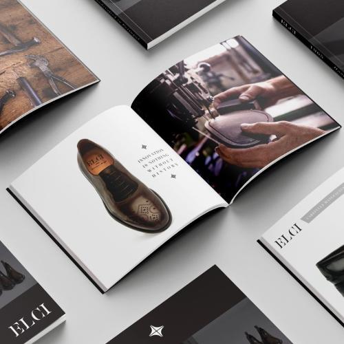 Design de catálogos de calçado