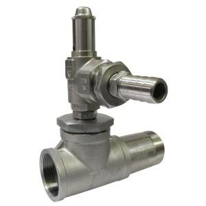 Bypass valve made of stainless steel