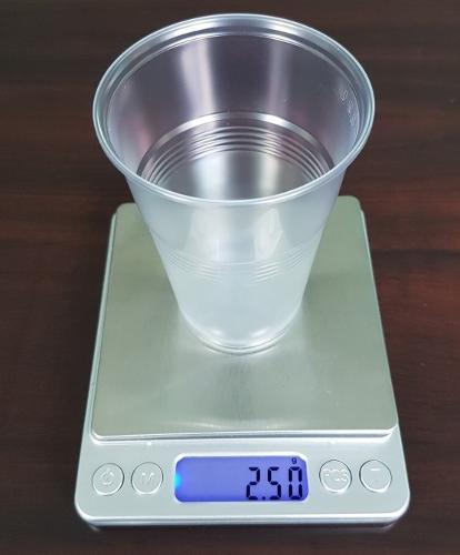 Пластиковый одноразовый стакан 2,5 гр 200 мл,