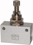 Throttle check valve, in block shape, Anodised...