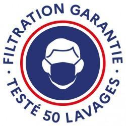 Masque Ado Dga Bleu Patriot 50 Lavages (Préconisation Afnor)