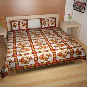 pure cotton king size bed-sheet  by traditional mafia