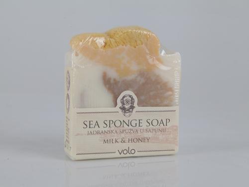 Sea sponge soap with milk and honey essence