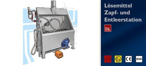 Solvent Dumping/Dispensing station