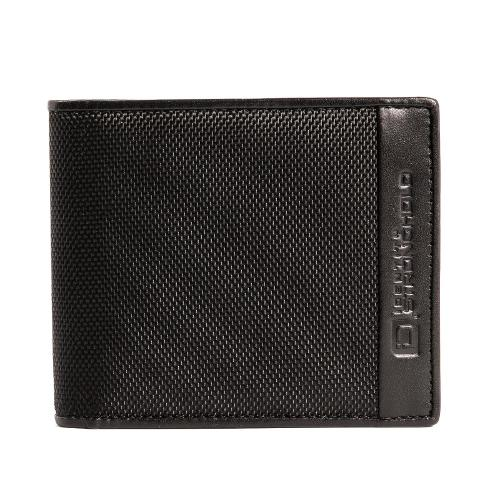 RFID Wallet Slim 7 Slot Bi-Fold With ID in Leather and Nylon
