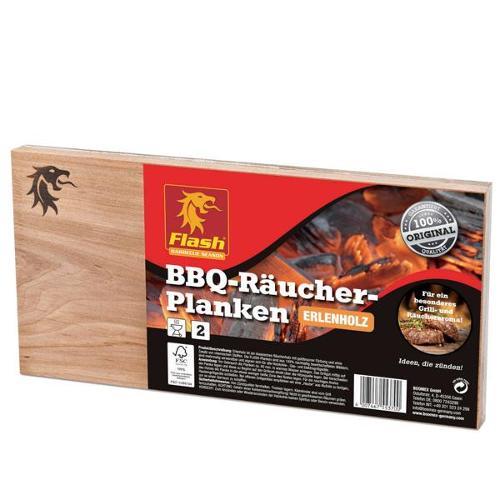FLASH Räucher-Planken Erle 2 Stück